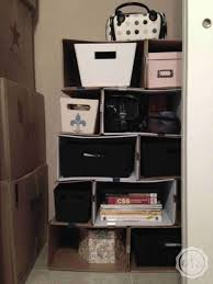 diy cardboard bookcase happily ever after etc