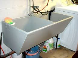 Concrete laundry room sink refinishing after