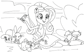 Awesome Coloring Pages My Little Pony Of Girls Rainbow Rocks Free
