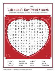 valentine s day word search