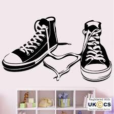 converse shoes girls boys bedroom teenager wall art