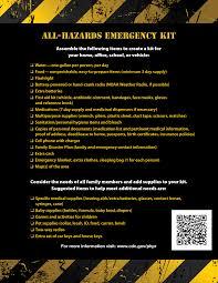 Baby Supplies Checklist Zombie Preparedness For Educators Kit Checklist Cdc