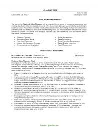 Unusual Manager Resume Summary Of Qualifications It Sales Resume