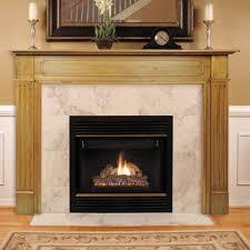 amazing brown unfinished oak wood fireplace mantel with cream ceramic surround