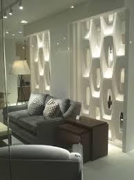 elegant white concrete partition with hexagonal shapes as