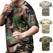 Новый военный рубашку армейский камуфляж фитнес T ...