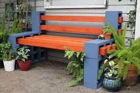 Cinder Block Furniture Backyard Latex Home And Benches