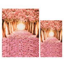 Cherry Blossom Backdrop Cherry Blossom Grove Forest Theme Photography Vinyl Backdrop Studio Background 2x1 5m 1 5x0 9m