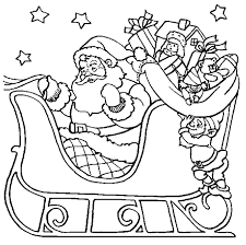 Small Picture Santa Coloring Pages Santa Sleigh Ride Christmas Coloring Page