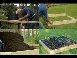 no dig raised bed compost on weeds