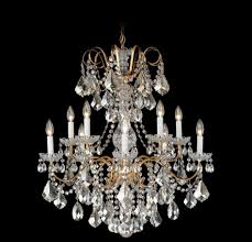 schonbek trilliane strands 24 inch wide 6 light chandelier