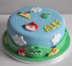 Cartoon Character Cakes Angry Birds Kids Birthdays Cake