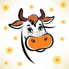 tête de petite vache et fleurs...
