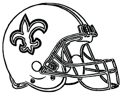 nfl coloring book pages kids helmet football saints new buds