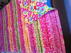 Serger Ruffle Quilt - For this serger quilt we used 4 different ... & Quilt made for my niece