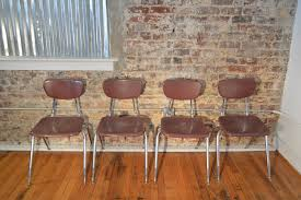 mid century industrial furniture. Set Of Four Virco Industrial Mid Century Modern Chairs Furniture
