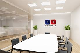Professional Office Design Interesting Bold Professional Finance Logo Design For RT Holdings By