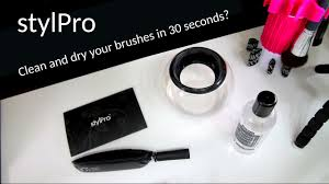 first impressions stylpro makeup brush cleaner unboxing and review