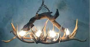 antler chandelier faux chandeliers elk deer diy making