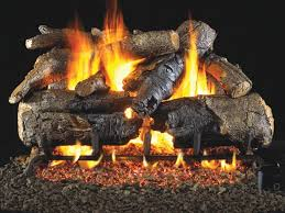 vented gas logs charred american oak by real fyre