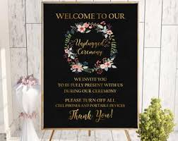Printable Welcome To Our Unplugged Ceremony Sign Unplugged Etsy