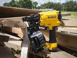 dewalt dw45rn coil roofing nailer pro