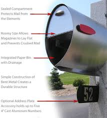 Helix Spira Unique Post Mount Mailbox Black Residential Mailbox