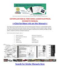 caterpillar h ith wheel loader electrical schematic manual factory service manuals pdf workshop repair owners operator manuals parts manuals wiring schematics