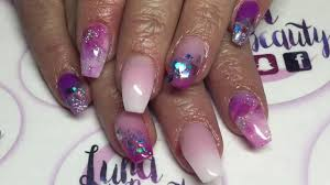 Pink Purple And Silver Nail Designs