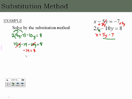 solving systems of linear equations in two variables by substitution you