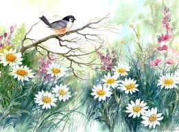 adee and daisies painting by lois mountz