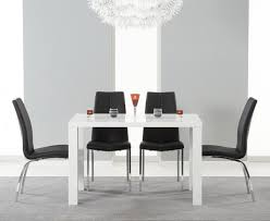 atlanta 120cm white high gloss dining table with cavello chairs