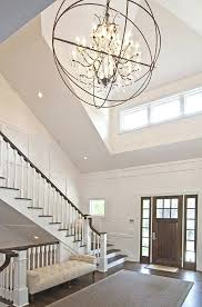 entryway chandelier lighting large foyer lantern pertaining to plans 16