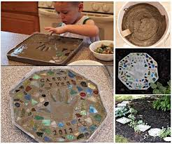 diy cute cement stepping stone with