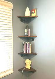 industrial corner shelf pair of industrial corner shelves pipe corner shelf set pine boards iron pipe