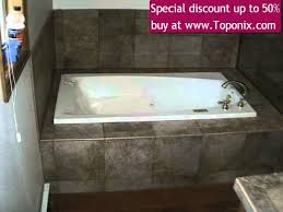 bathroom surround granite tiled bathtub shower wall enclosure 3