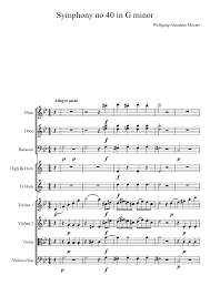 Mozart-Symphony no 40 in G minor 4th movement Sheet music for Flute, Oboe,  Bassoon (Mixed Trio)