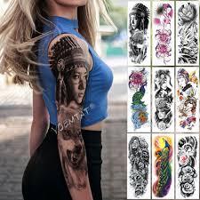 12737 руб большие татуировки на руку индийская дикая девушка водонепроницаемая