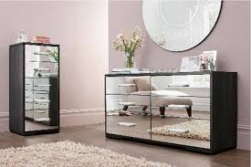 mirrored bedroom furniture white wooden bedside table mirrored ches round shape wall mirror white wooden