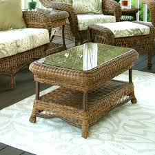 rattan coffee table with glass top round wicker coffee table glass top white wicker coffee table