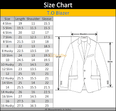Husky Pants Size Chart T O Collection Boys Black Suit Slim Regular Husky Fits 1632 12