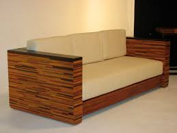 contemporary african furniture. Modern African Sofa. Laminated Wood. 100% Cotton Upholstery, 1000 Times Martinized | Contemporary Furniture