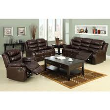 Furniture of America Berkshire Dark Brown Faux Leather Sofa CM6551 S