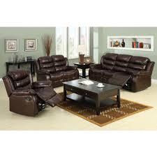 furniture of america berkshire dark brown faux leather sofa