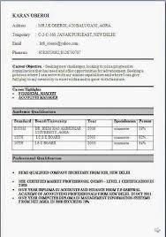 Sample Resumes For Bcom Freshers Resume Corner