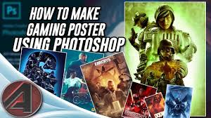 Collage For Game Design Photoshop Poster Tutorial How To Make Gaming Poster