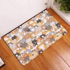 details about durable door mats thin flannel waterproof lovely cartoon kitchen entrance rugs