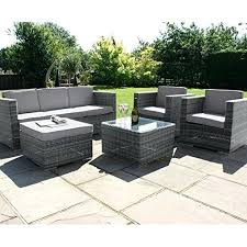 The Collection Fiji 6 Seater Rattan Patio Set  Grey The Official Argos Outdoor Furniture Sets