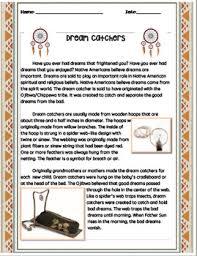 Where Did Dream Catchers Originate Native American Dream Catcher Cause and Effect by Teacher Lady's 62