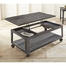 steve silver sherlock lift top coffee table with casters in